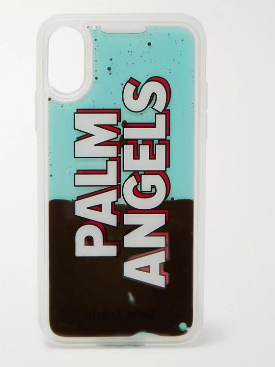 Palm Angels Liquid Logo-Print iPhone X Case