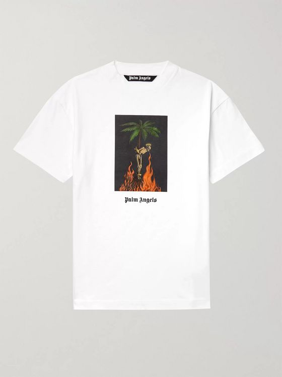 Palm Angels Oversized Printed Cotton-Jersey T-Shirt