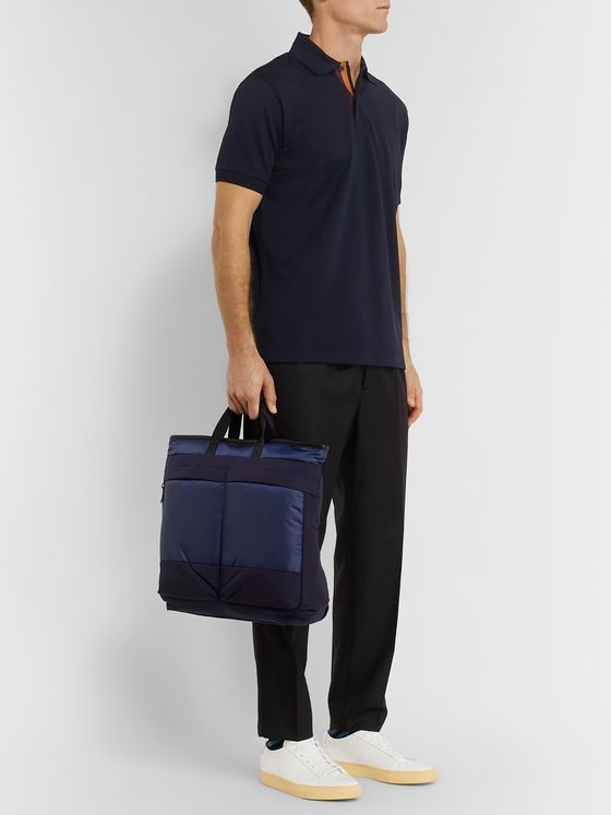 Paul Smith Slim-Fit Stripe-Trimmed Cotton-Piqué Polo Shirt