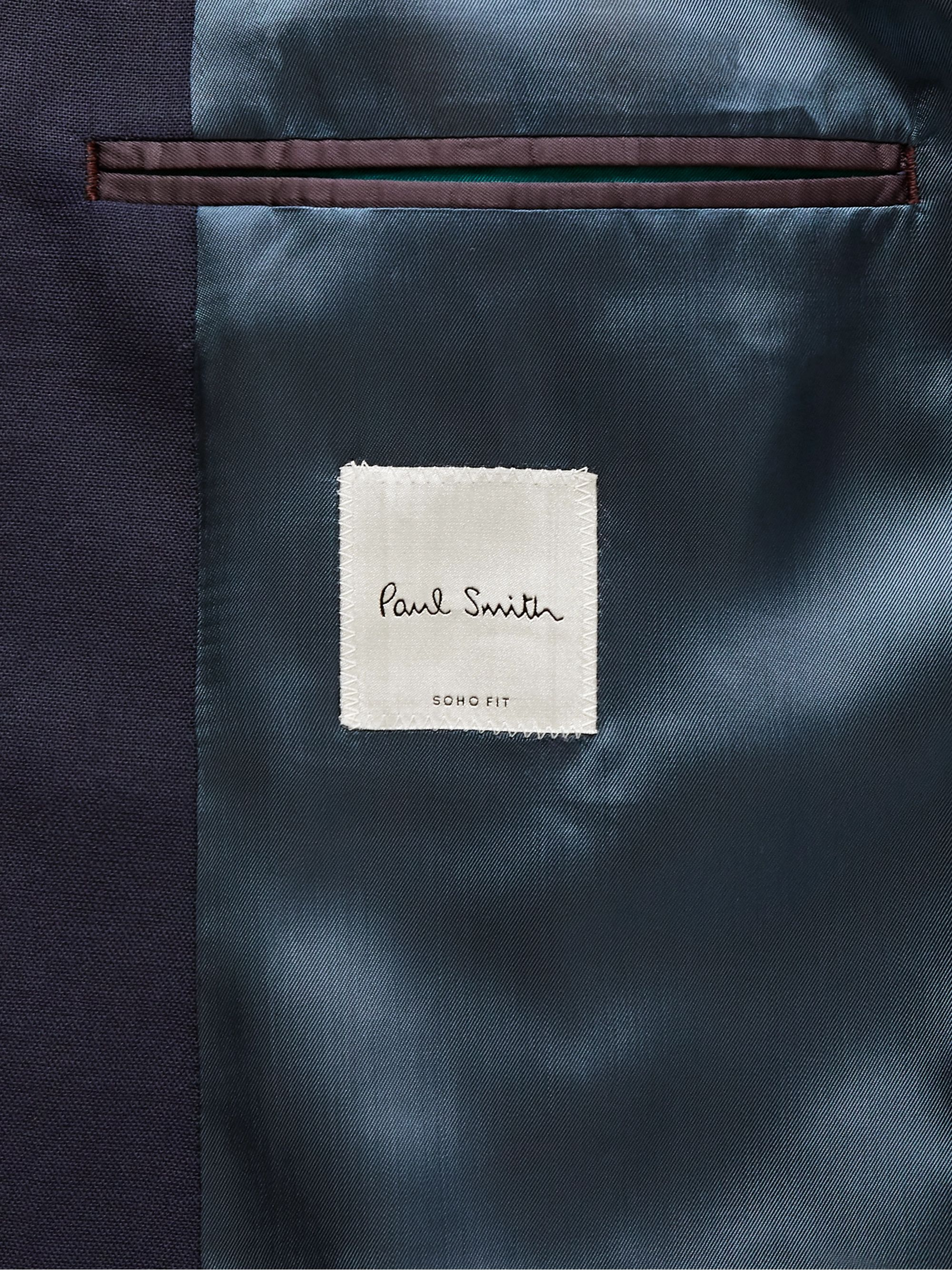 Paul Smith Navy Kensington Slim-Fit Wool Suit Jacket