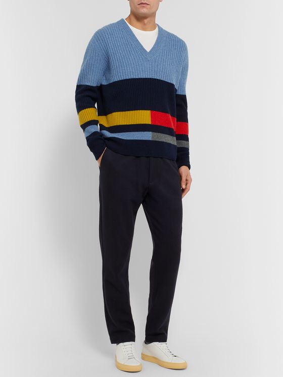 Paul Smith Ribbed Striped Lambswool Sweater