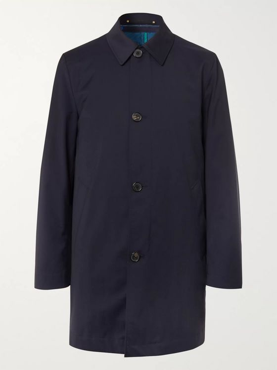 Paul Smith + Loro Piana Storm System Wool Car Coat with Detachable Quilted Shell Liner