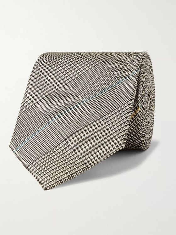 Paul Smith 6.5cm Prince of Wales Checked Silk Tie