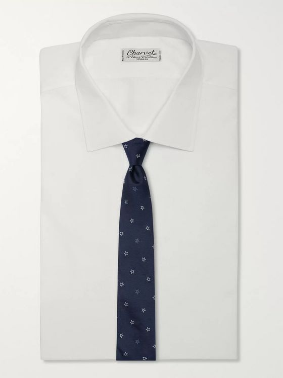 Paul Smith 8cm Embroidered Silk-Twill Tie