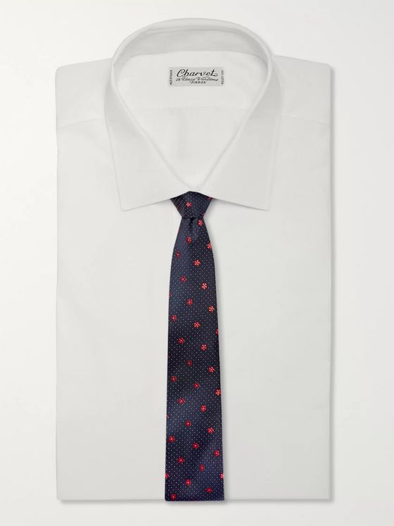 Paul Smith 6cm Embroidered Silk Tie