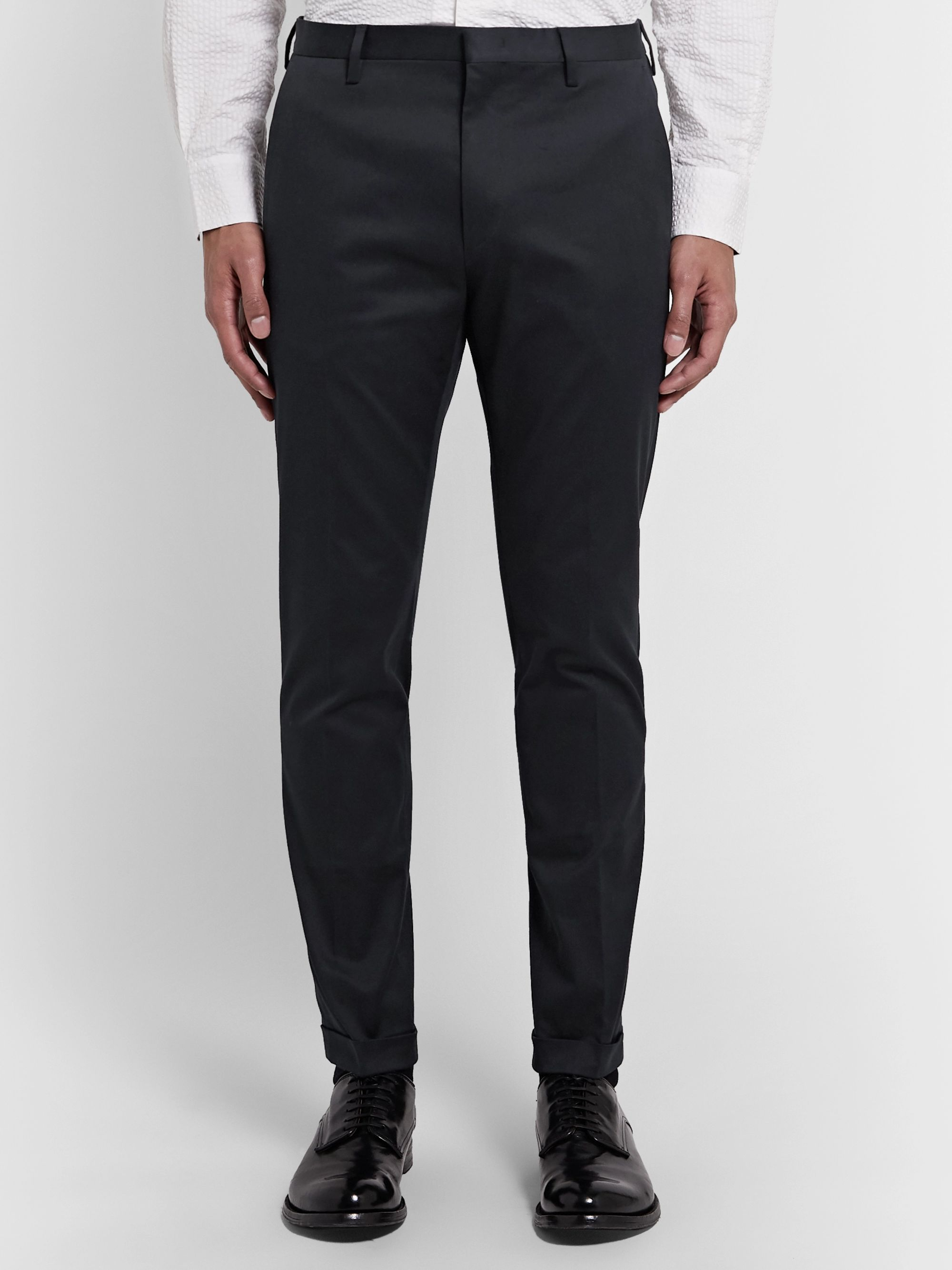 Paul Smith Slim-Fit Stretch-Cotton Twill Trousers