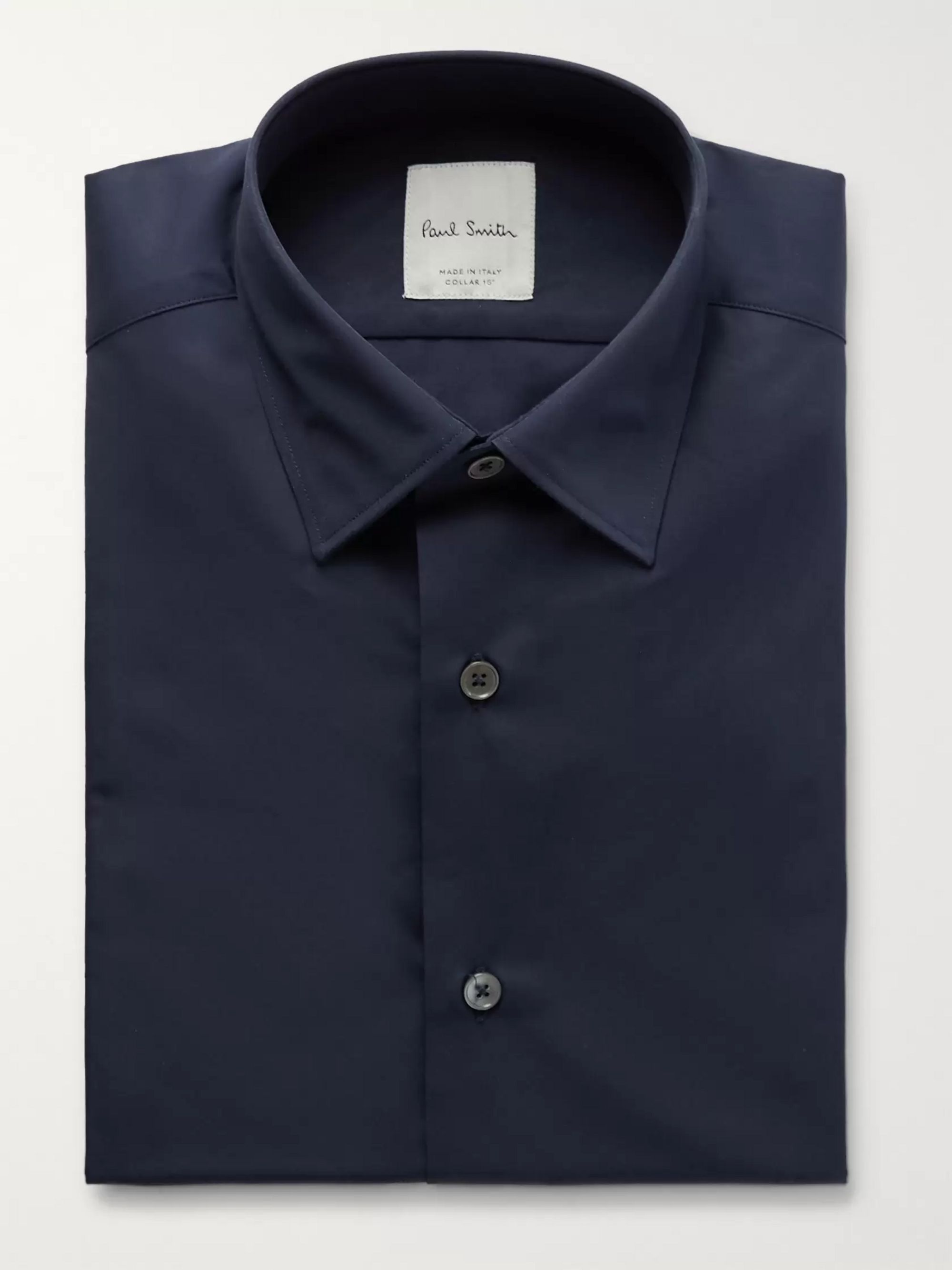 Paul Smith Navy Cotton-Poplin Shirt