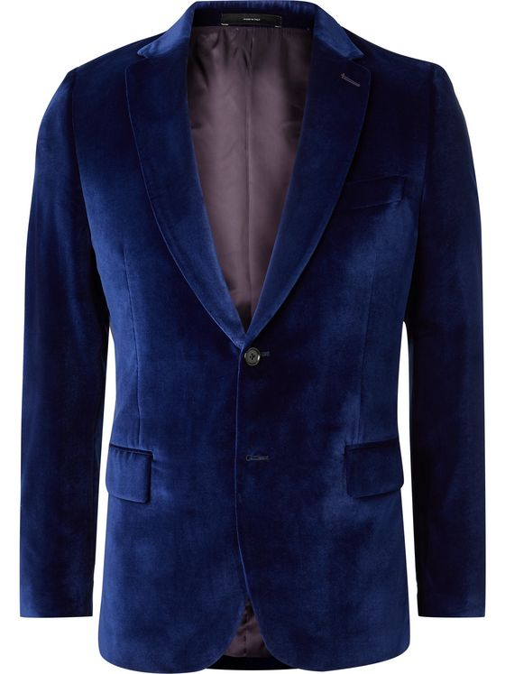 Paul Smith Red Soho Slim-Fit Velvet Tuxedo Jacket