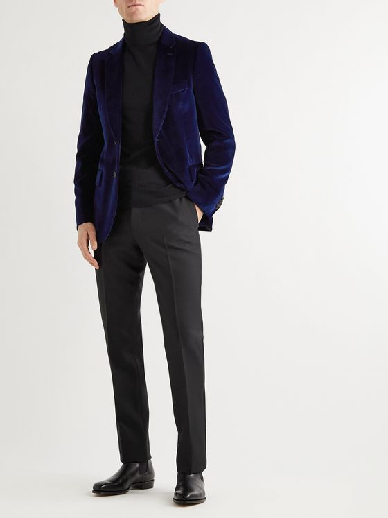 Paul Smith Navy Soho Slim-Fit Wool Suit Jacket