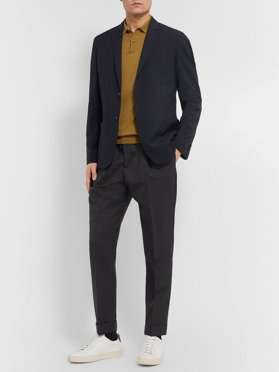 Paul Smith Navy Slim-Fit Wool-Blend Blazer