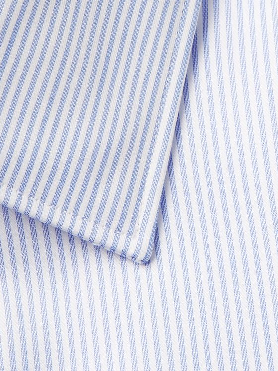 Paul Smith Light-Blue Slim-Fit Pinstriped Cotton-Poplin Shirt