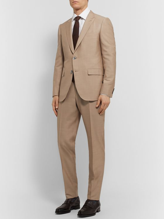 ERMENEGILDO ZEGNA Slim-Fit Silk and Wool-Blend Suit