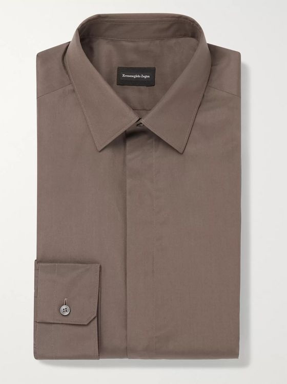 Ermenegildo Zegna City Slim-Fit Silk and Cotton-Blend Shirt