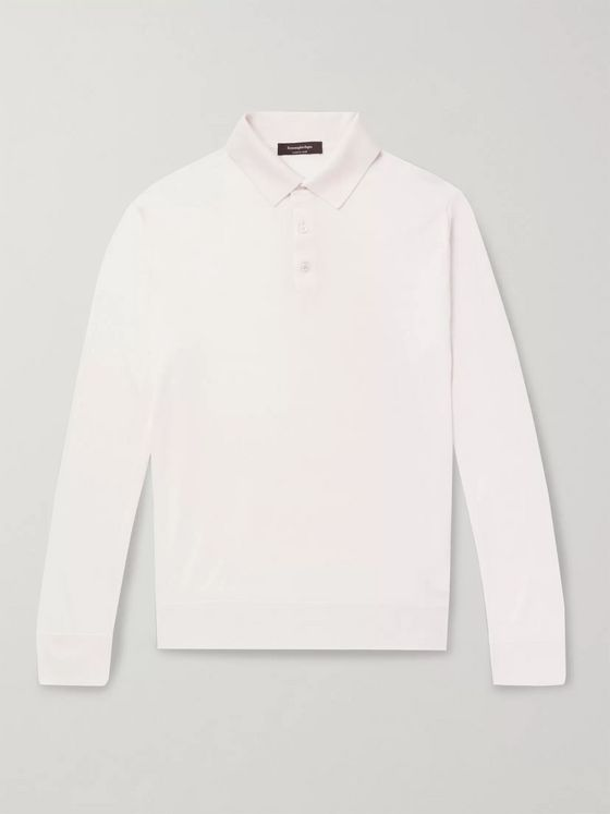 Ermenegildo Zegna Cashmere and Silk-Blend Polo Shirt