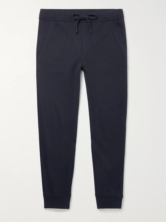 Ermenegildo Zegna Tapered Loopback Cotton-Blend Jersey Sweatpants