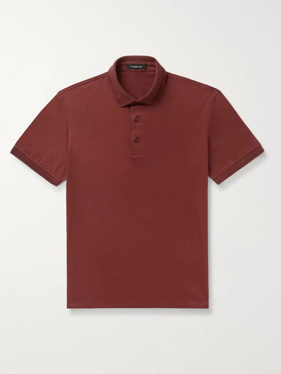Ermenegildo Zegna Slim-Fit Cotton-Jersey Polo Shirt