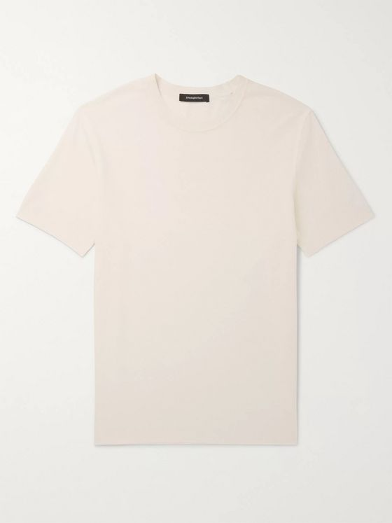 Ermenegildo Zegna Waffle-Knit Silk and Cotton-Blend T-Shirt