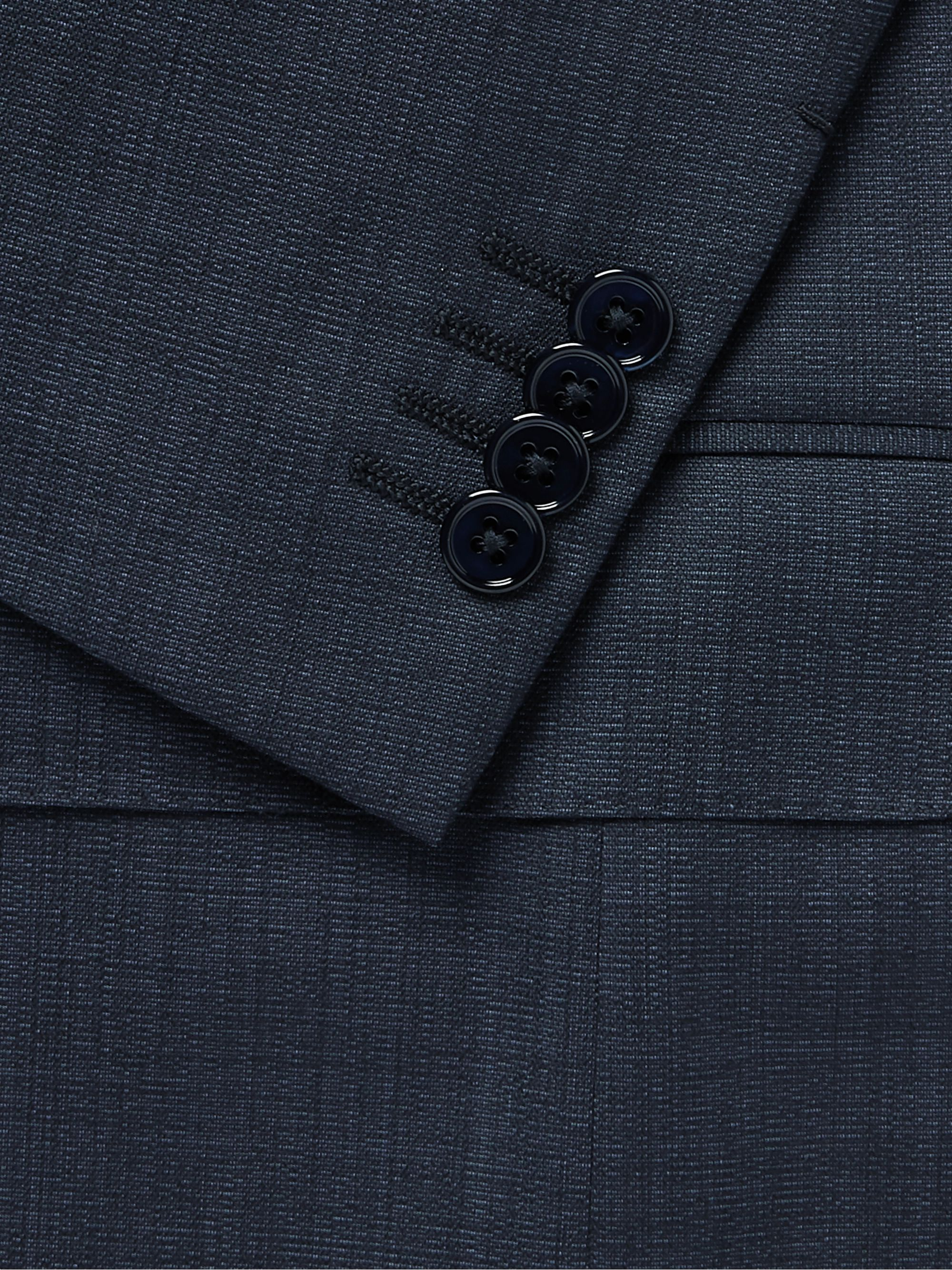 ERMENEGILDO ZEGNA Navy Slim-Fit Sharkskin Wool Suit