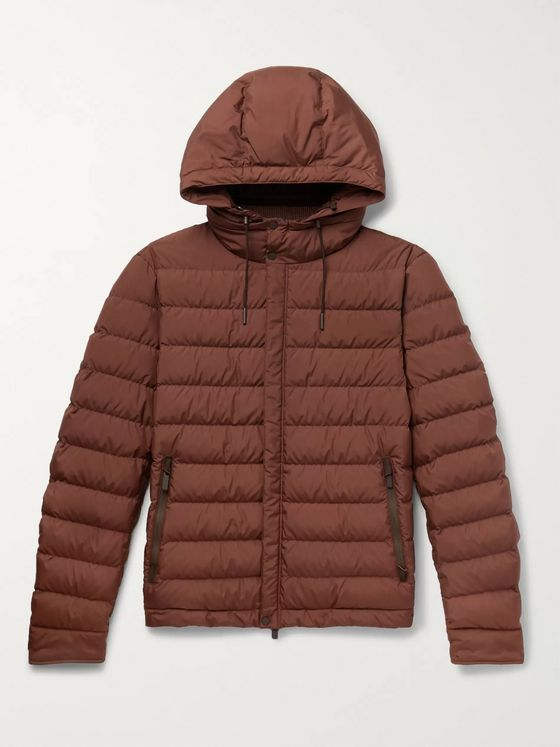 Ermenegildo Zegna Quilted Shell Hooded Down Jacket