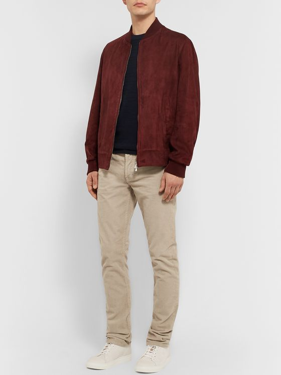 Ermenegildo Zegna Slim-Fit Textured-Wool Sweater