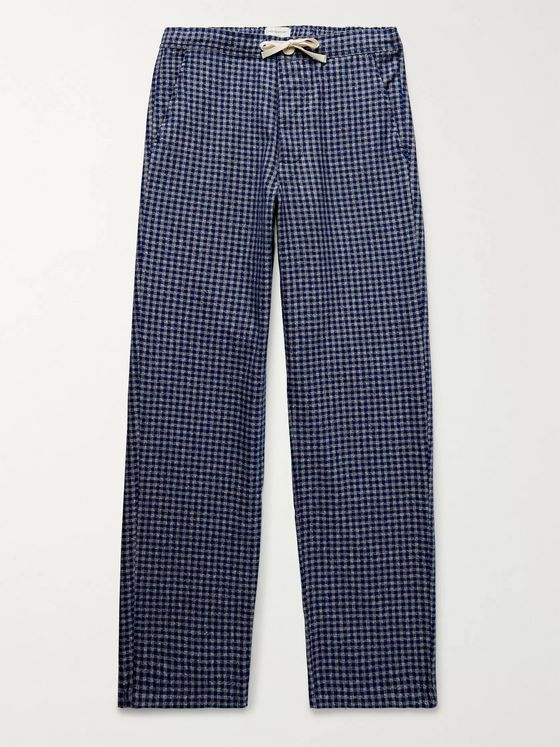 Oliver Spencer Loungewear Cannington Gingham Cotton Drawstring Pyjama Trousers
