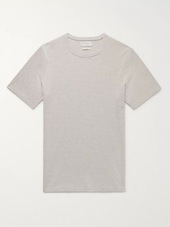 Oliver Spencer Loungewear Miverton Slim-Fit Ribbed Recycled Cotton-Blend T-Shirt