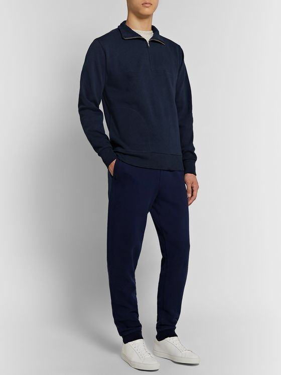 Oliver Spencer Loungewear Milner Recycled Cotton-Jersey Half-Zip Sweatshirt