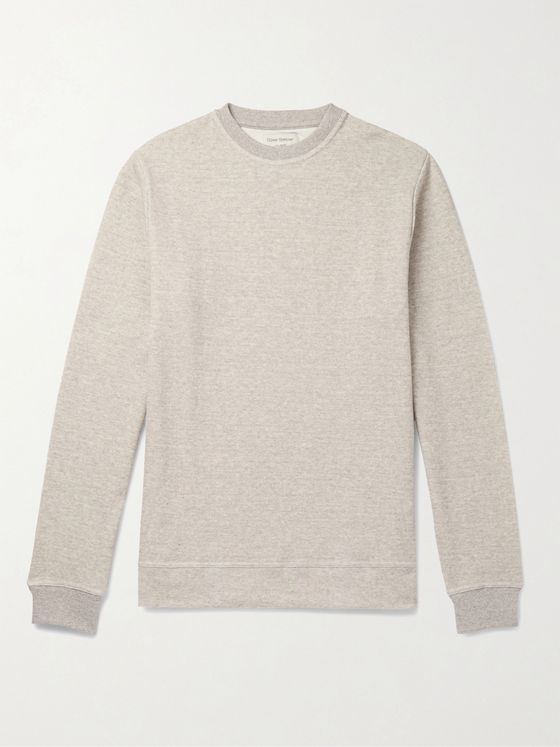 Oliver Spencer Loungewear Milner Mélange Cotton-Jersey Sweatshirt