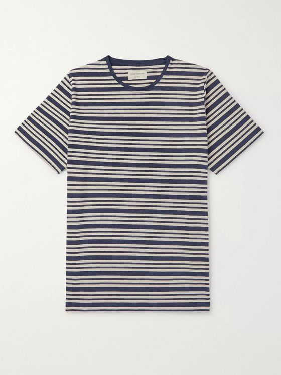 Oliver Spencer Loungewear Alroy Striped Cotton-Jersey T-Shirt