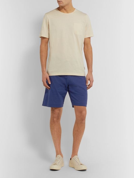 Oliver Spencer Loungewear Alroy Striped Cotton-Jersey Shorts