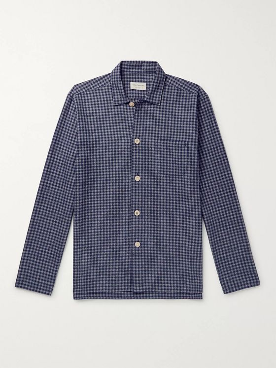 Oliver Spencer Loungewear Cannington Gingham Cotton Pyjama Shirt