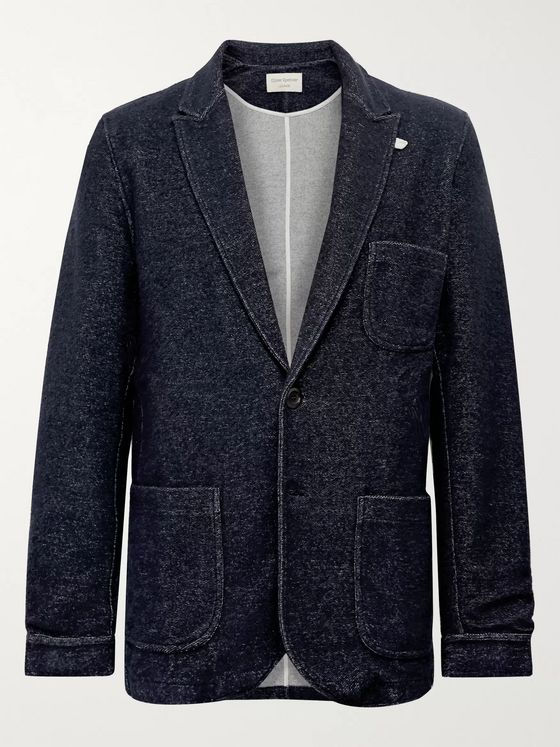 Oliver Spencer Loungewear Birch Mélange Knitted Blazer