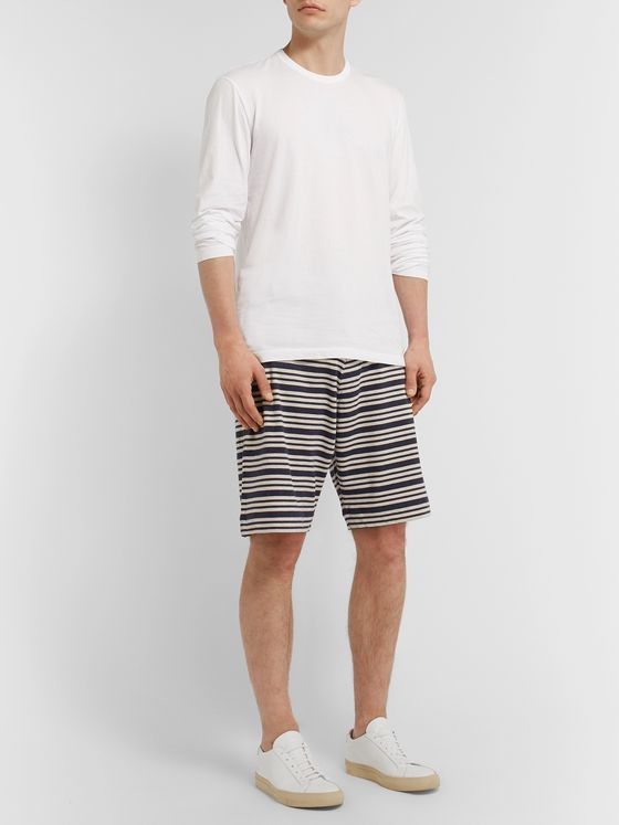 Oliver Spencer Loungewear York Supima Cotton-Jersey Drawstring Shorts
