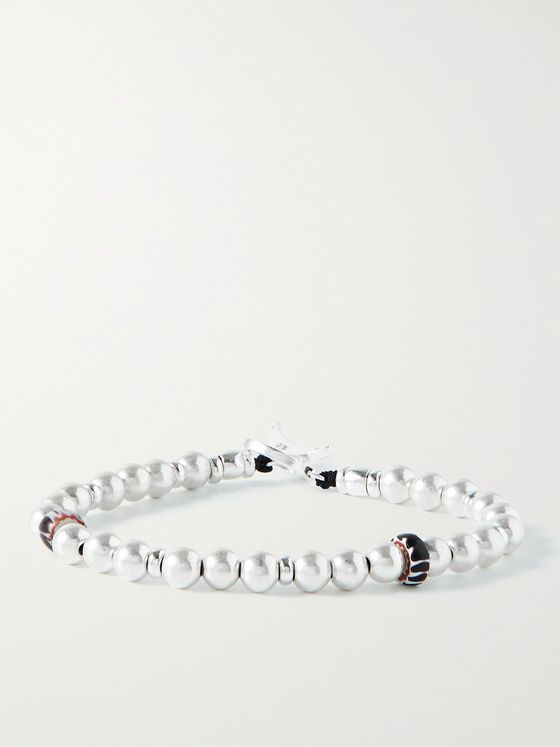 MIKIA Sterling Silver and Glass Beaded Bracelet