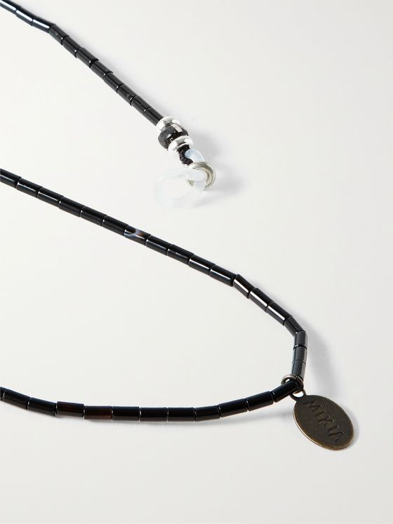 MIKIA Multi-Stone, Sterling Silver and Silk Sunglasses Chain