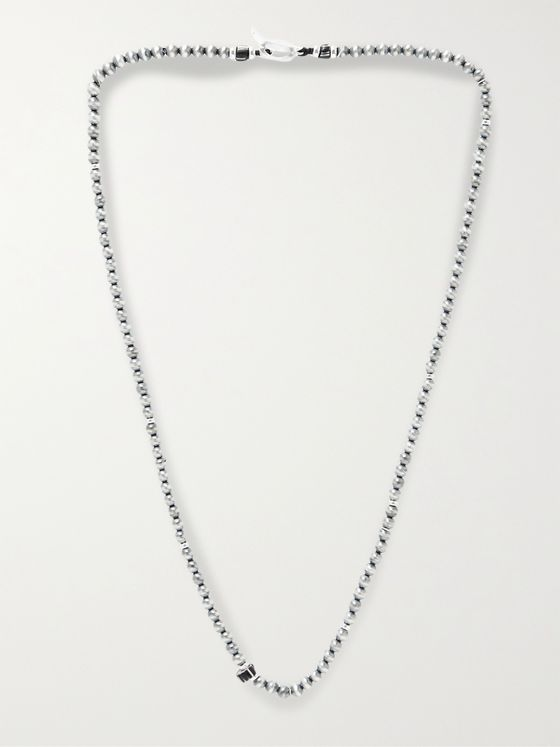 MIKIA Sterling Silver Beaded Necklace