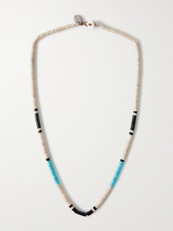MIKIA Multi-Stone and Sterling Silver Beaded Necklace