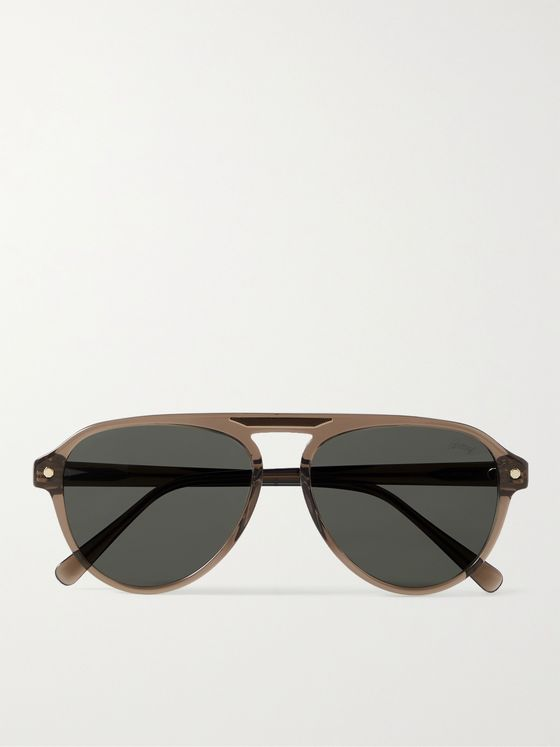 BRIONI Aviator-Style Acetate Sunglasses