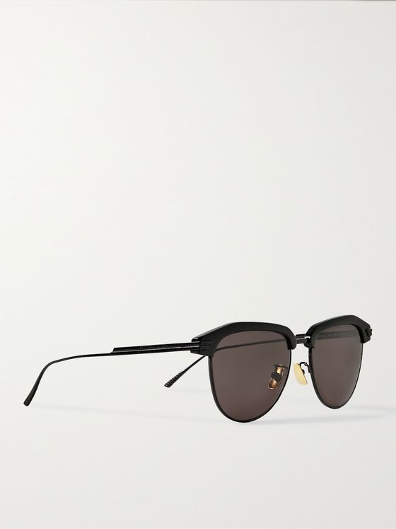 BOTTEGA VENETA D-Frame Acetate and Metal Sunglasses
