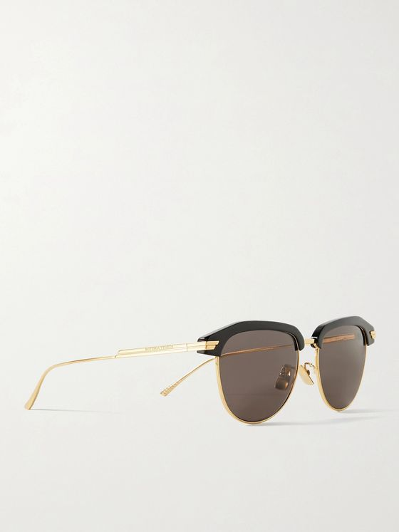 BOTTEGA VENETA D-Frame Acetate and Gold-Tone Sunglasses