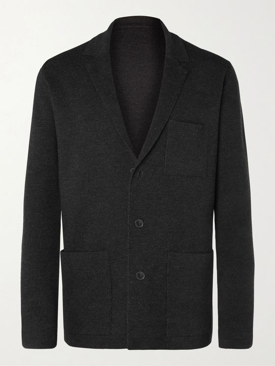 MR P. Unstructured Merino Wool Blazer