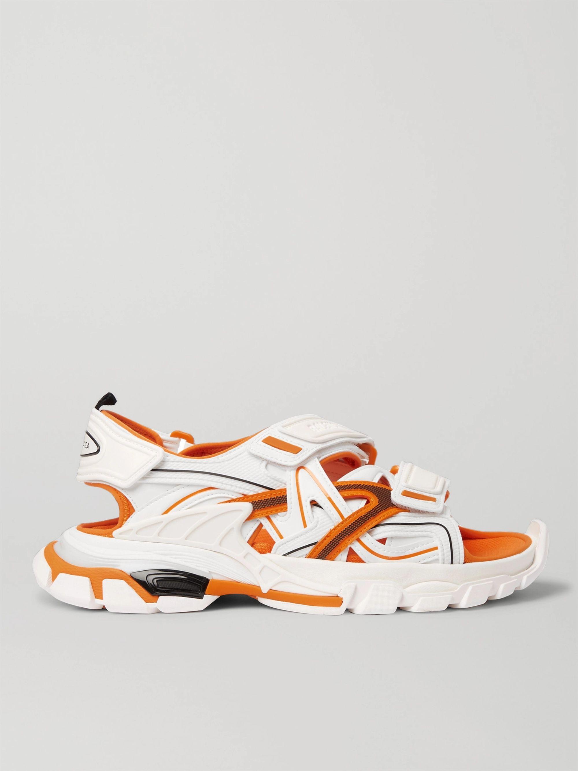 발렌시아가 Balenciaga Track Neoprene and Rubber Sandals,White