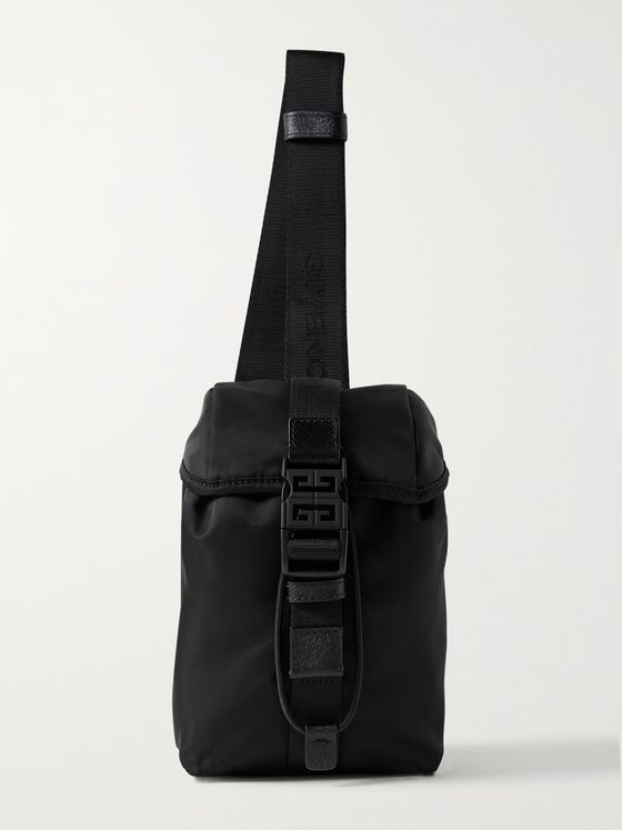 GIVENCHY Mini Leather-Trimmed Nylon Sling Backpack