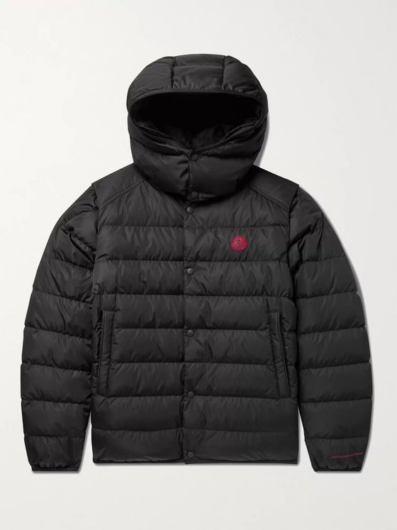 MONCLER Born to Protect Dabos Convertible Logo-Appliquéd Quilted ECONYL Hooded Down Jacket