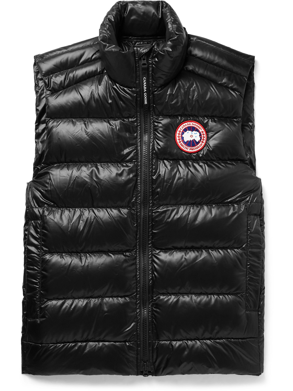Canada Goose Vests CROFTON SLIM-FIT QUILTED RECYCLED NYLON-RIPSTOP DOWN GILET