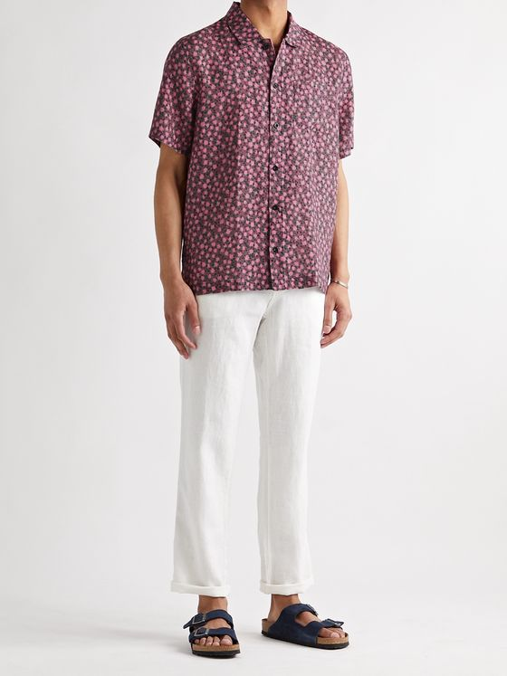 SOLID & STRIPED The Cabana Printed Linen Shirt