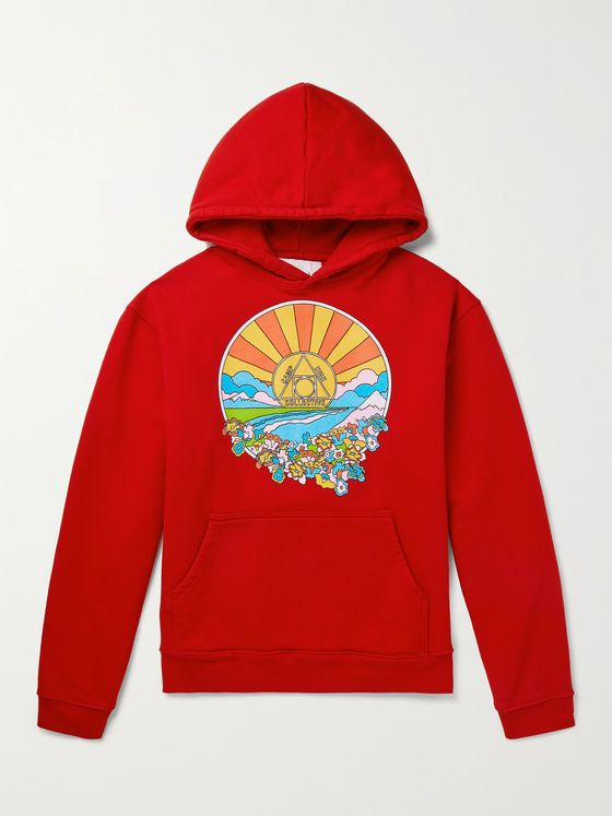 CAMP HIGH Sunshine Printed Cotton-Jersey Hoodie