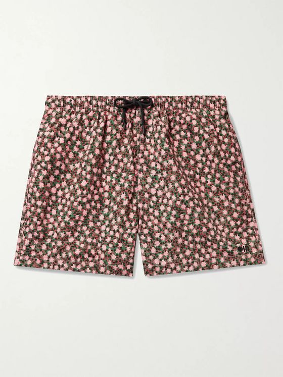 Solid & Striped The Classic Mid-Length Printed Swim Shorts
