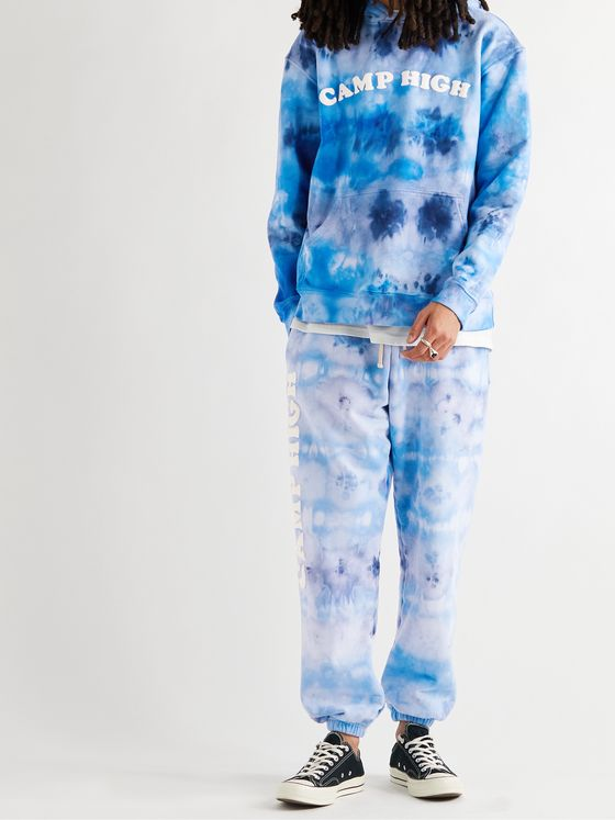 CAMP HIGH Santa Monica Tie-Dyed Cotton-Jersey Hoodie
