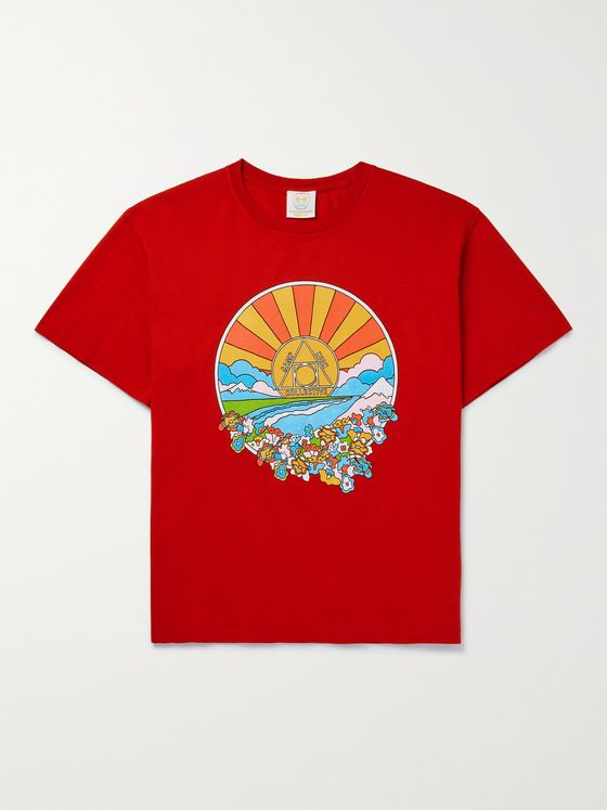 CAMP HIGH Sunshine Printed Cotton-Jersey T-Shirt